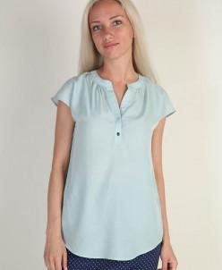 Блуза женская мятного цвета с коротким рукавом