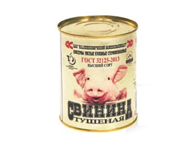 Тушеная Свинина высший сорт. Калинковичи 338г.