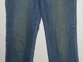 Джинсы капри голубые стрейч длина 91-80 см р.27