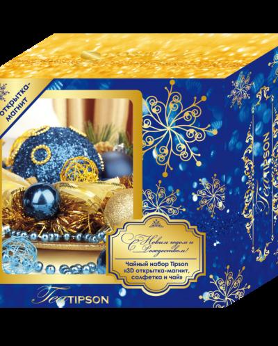 Чайный набор Типсон с 3D открытка-магнит + чай.