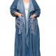 Синий длинный джинсовый жакет 509080