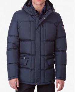 Непромокаемая модная куртка темно-синяя модель 4909