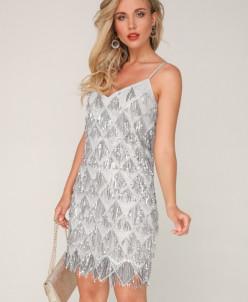Платье 187/3 серебро