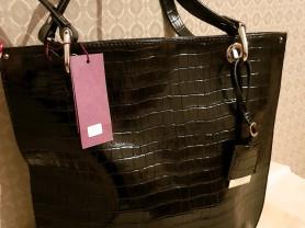 Новая черная сумка из натуральной кожи Gaude