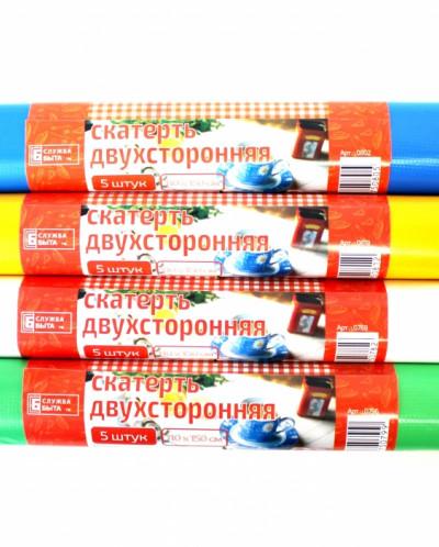СКАТЕРТЬ ДВУХСТОРОННЯЯ 5 ШТУК В РУЛОНЕ 110*150, 4 цвета