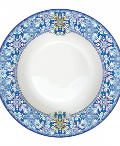 Тарелка суповая Майолика (голубая) без инд.упак.