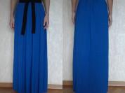 Платье длинное в пол новое Northland Италия размер М L 46 48 синее ткань вискоза натуральная мягкая пояс чёрный пришит сарафан Одежда женская бренд