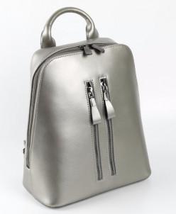 Рюкзак женский кожаный 7022 Серебряный