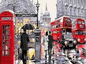 Картины по номерам GX 3518 Прогулка по Лондону