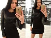 новое черное платье со вставками