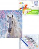 """Картина по номерам """"Белогривая лошадка"""""""