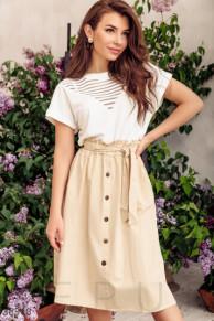 Бежевая юбка в стиле casual
