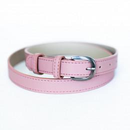 Ремень 005 розовый/серебро
