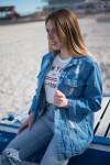 Женские джинсовые куртки Мом 1039-270