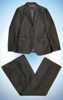 116-140 Комплект 3в1 д/м   темно серого цвета в рубчик