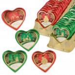 Шоколадные сердца с новогодними мотивами 5шт