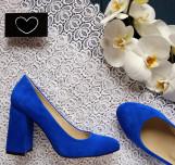 Велюровые туфли на удобном каблуке.