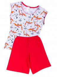Комплект для девочки (топ и шорты-бермуды)