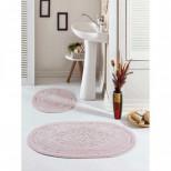 Овальный Коврик для ванной комнаты 2 шт в/уп 60*100 см+50*60