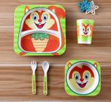 Набор детской посуды 5 предметов Бельчонок