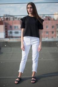 Женские джинсы Slim белые 0004
