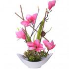 16002-NT Дек/цветы Магнолия в кер/вазе(х6)