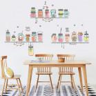 Наклейка многоразовая «Кухонные банки»