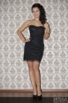 Платье с паетками М-055 цвет черный
