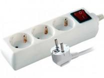 Электроудлинитель S 3x3-ZDV (э/удл., земля, выключ)