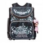 Рюкзак школьный для девочки с брелоком Grizzly