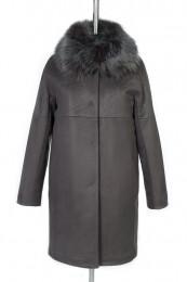 02-0423 Пальто женское утепленное Дубленка Серый