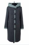 02-1529 Пальто женское утепленное Валяная шерсть Серо-зелены