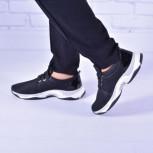Женские комбинированные кроссовки (мягкий текстиль/экомех)