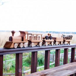 Большой паровозный состав с 4 вагонами, ТМ Леснушки