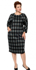 Платье в Серо-зеленую клетку 17341