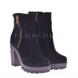 Ботинки LR 566 Черная замша