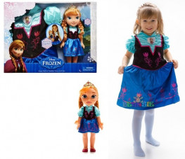 Jakks Pacific Нарядное платье для девочки + кукла Анна