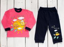 Комплект детский: кофта и штаны с принтом