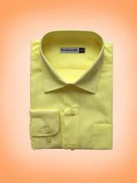 """Рубашка """"слим"""" д/м арт.РС 038-114 желтого (""""лимонно"""