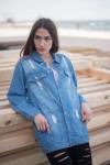 Женские джинсовые куртки Мом 1055-327