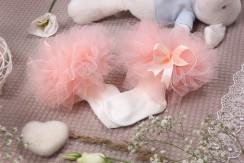 """Носочки для девочки """"Зефирки"""" персиковые"""