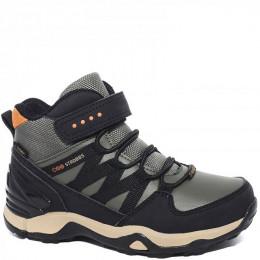 N1856-19 олива Ботинки зима для мальчиков (31-35)