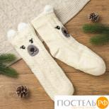 """Носки женские MINAKU """"Белый мишка"""", размер 23, цвет экрю 414"""