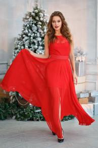 Платье-трансформер цвет красный (П-30-7)