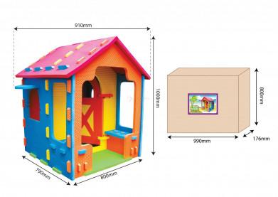Игровой дом-конструктор с верандой