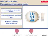 Pupa Румяна компактные матовые т.106 NAVY CHIC LIKE A DOLL B