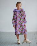 Платье с капюшоном Колибри в цветах 3