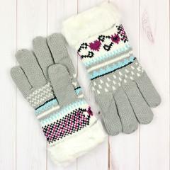 Вязаные женские перчатки