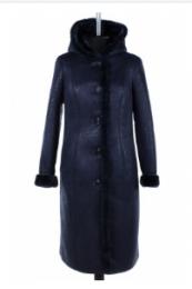 02-1550 Пальто женское утепленное Дубленка Синий