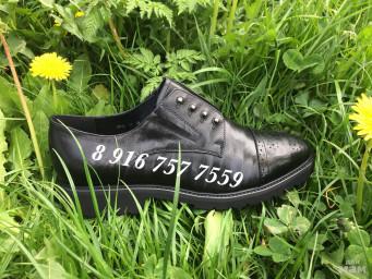 ботинки натуральная кожа!стоили 2300р новая цена 1400р